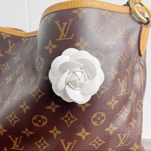 Camellia Flower Vegan Leather Bag Charm